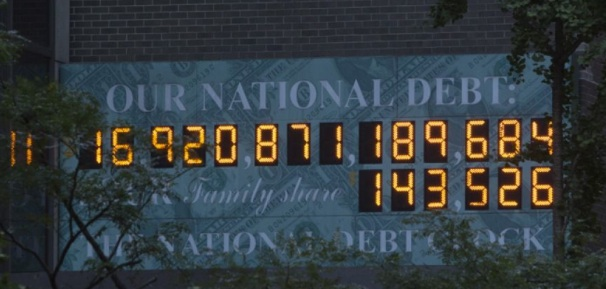 National Debt Clock, Pictured in New York City