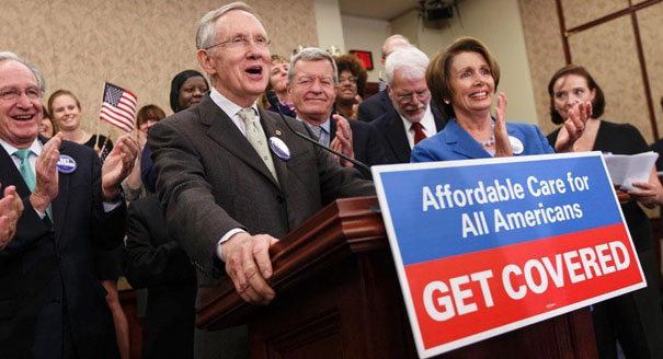 Harry Reid and Nancy Pelosi, champions of Obamacare
