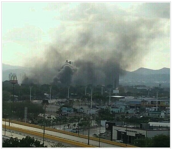 """The Collective"" entered Universidad Centroccidental Lisandro Alvarado and set part of the university ablaze."