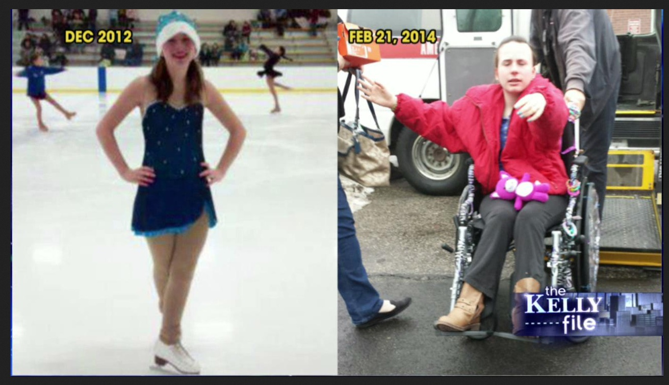 Justina before and after being removed from her family's custody and into the hands of Massachusetts DCF.