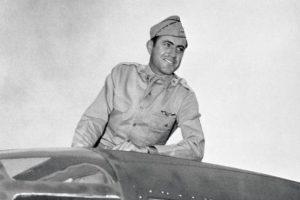 Zamperini in his B-24.