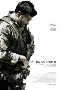 "One of the movie posters for ""American Sniper"""