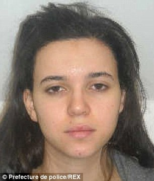 Picture of Hayat Boumeddiene, as released by French police