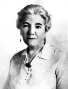 "Laura Ingalls Wilder, a portrait from sometime in her sixties, when she would have been writing the ""Little House"" books"