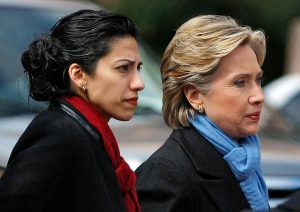 Huma Abedin and Hillary Clinton in 2008 (photo: Reuters)