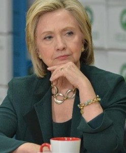 """Hillary """"listening."""" (Photo Credit Daily Mail)"""