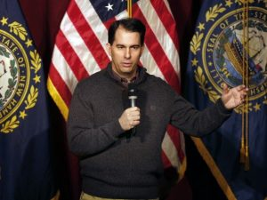 Scott Walker and his sweater from Kohl's (photo: AP)
