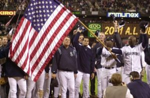 The Mariners on September 19, 2001, after clinching the AL West championship