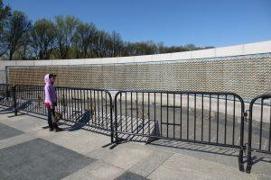 At Freedom Wall, World War II Memorial in Washington DC (photo taken in April 2014)
