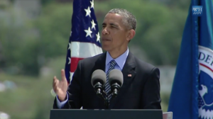 President Obama Speaks at Coast Guard Commencement.