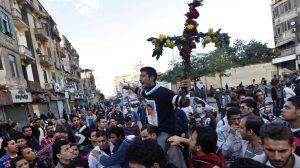 Coptic Christians protesting the arrest of five children for blasphemy Photo credit: GospelHerald.com