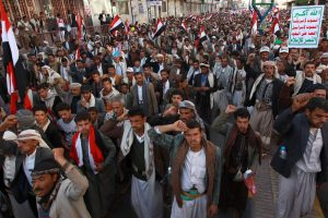 Supporters of the Houthi rebels in fall 2014