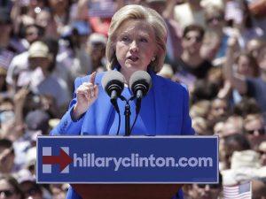 Hillary Clinton gives her big speech on Roosevelt Island, June 13, 2015