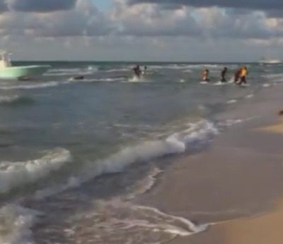 Illegal Immigrants Hop From Boat, Run Ashore in Miami Beach [VIDEO]