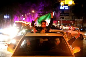 Iranians rejoiced in the streets after agreement was reached.