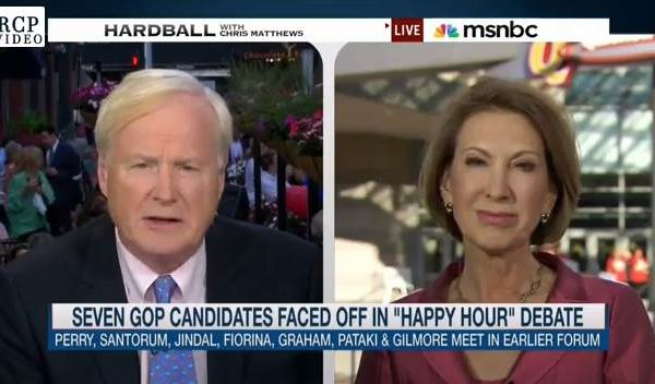 Carly Fiorina Stands Up to Chris Matthews