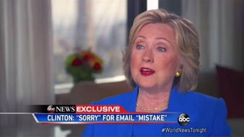 Hillary Clinton Offers Quasi-Apology [VIDEO]