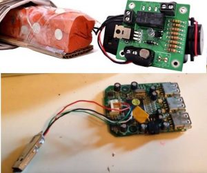 Top is IED example Bottom photo is Ahmed's clock