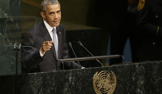 President Obama speaks at the UN, September 28, 2015 (photo:AP)