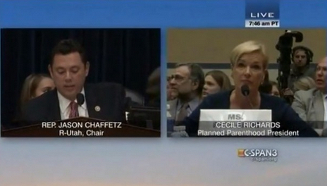 Oversight Hearing: Jason Chaffetz Excoriates Planned Parenthood Prez on Group's Finances [VIDEO]