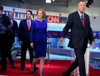 #CNNDebate: John Kasich Refuses to Criticize #Hillary, Carly Fiorina Obliges [VIDEO]