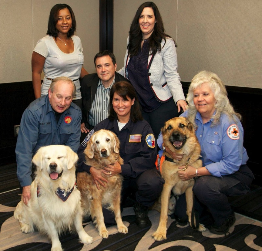 Hero Dogs of 9/11 reunion with Genelle Guzman-McMilllan, Sept. 10, 2013. (Photo Credit Hero Dogs of 9/11 on FaceBook)