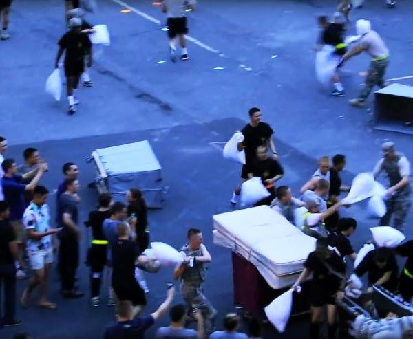 West Point pillow fight turns violent (again)