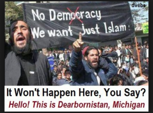 Muslims In Dearborn MI protesting