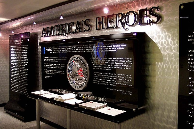 At the America's Heroes Memorial and Chapel inside the Pentagon (official photo - no civilian photography is allowed in the Pentagon)