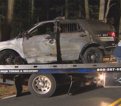 Gunman Opens Fire on Police Officer in Car in Millis, Massachusetts