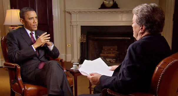 "President Obama is interviewed by Steve Kroft for ""60 Minutes"""