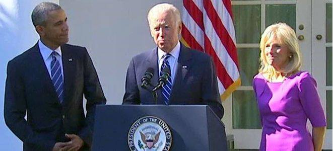 Joe Biden announces that he will not run for president, October 21, 2015