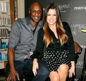 Odom and Kardashian when still married.