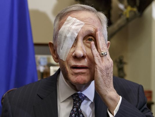 Retiring Senator Harry Reid Suing for Eye Accident