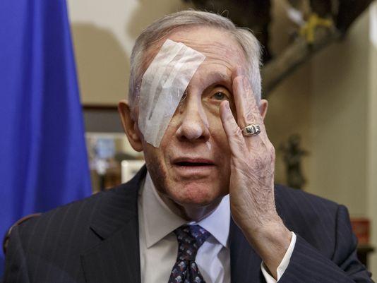 Retiring Senator Harry Reid Suing for Eye Accident