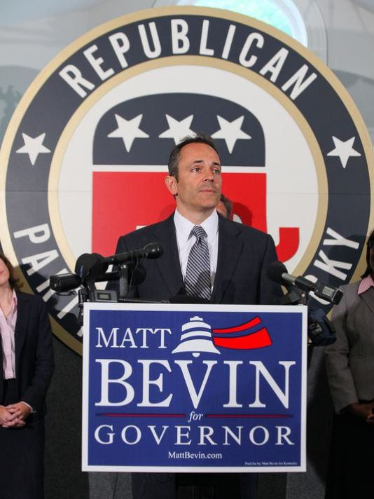 The new governor-elect of Kentucky, Matt Bevin