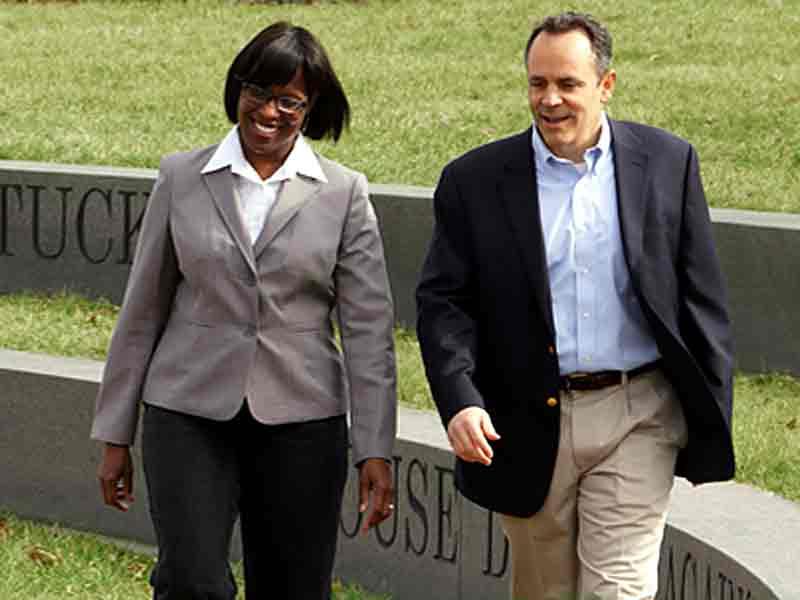 Jenean Hampton and Matt Bevin during the gubernatorial campaign
