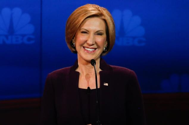 Carly Fiorina during the CNBC debate on October 28th