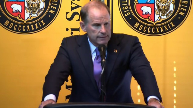 Now-former Missouri president Tim Wolfe announces his resignation