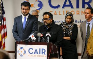 Farhan Khan, brother-in-law of San Bernardino shooter Syed Farook, with CAIR.