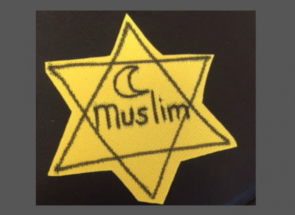 "University of San Diego Students Wear ""Muslim Yellow Stars"" to Protest Trump"