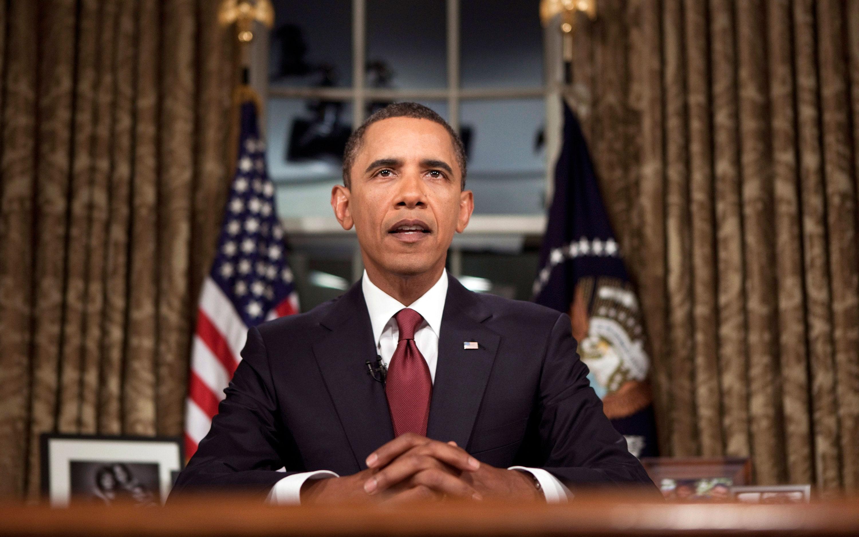 Obama Oval Office Address Bingo