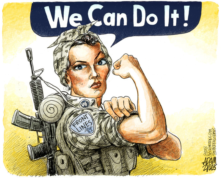All combat positions now open to military women