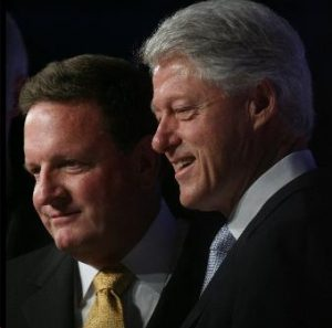 Burkle with Bill Clinton