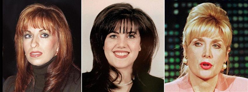 Three of Bill's past include Paula Jones, Monica Lewinsky, and Gennifer Flowers (Photo Credit CNN)