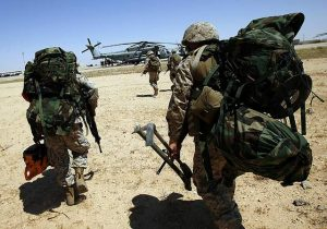 Marines in nearly 100 pounds of gear