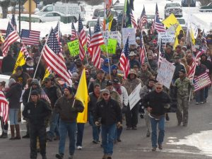 Protest in Burns, Oregon, January 2, 2016