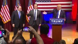 Trump with Huckabee and Santorum