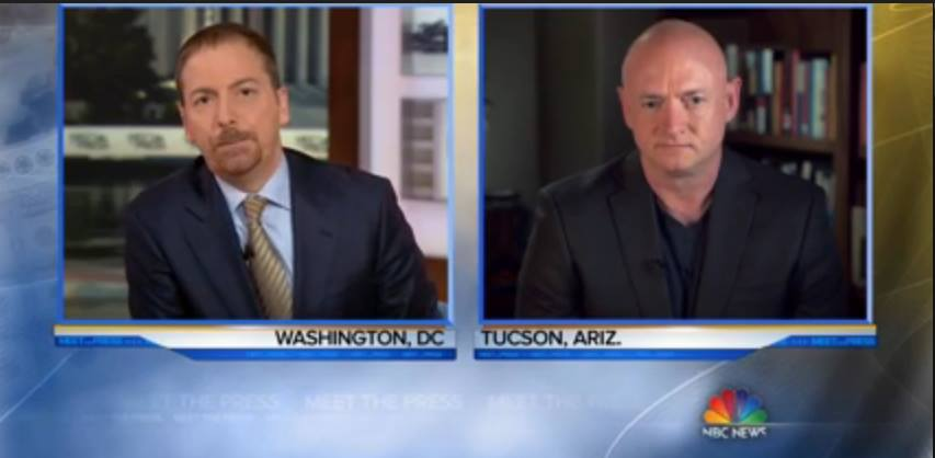 "Chuck Todd talks with Mark Kelly on ""Meet The Press"" Sunday, January 3 (photo: screengrab from NBC)"