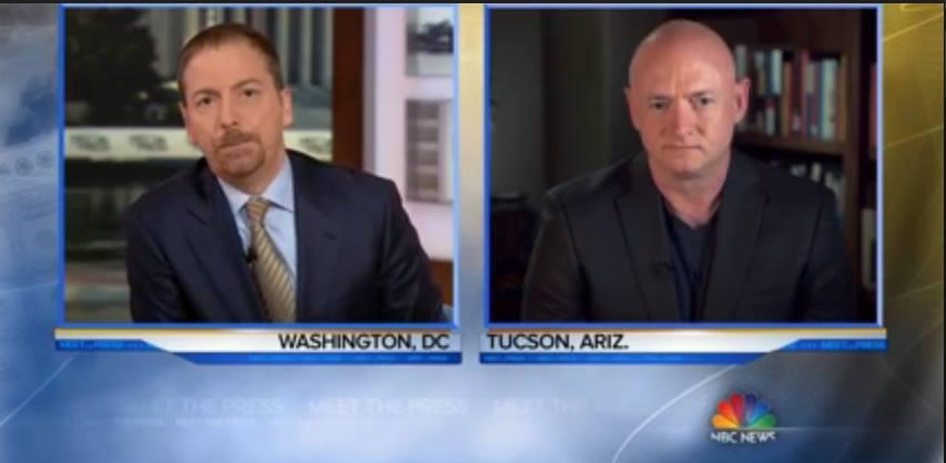 "Chuck Todd talks with Mark Kelly on ""Meet The Press"" Sunday, January 3 (photo: screengrab from NBC)"